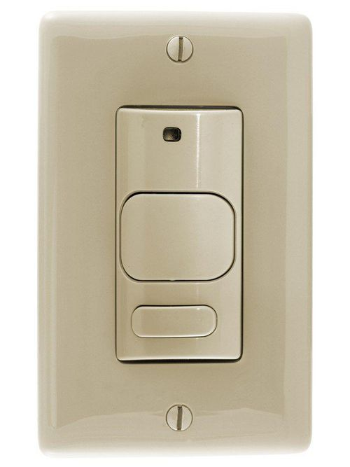 Hubbell AD1277I1 1800 W 120/277 VAC 1000 Square Foot Ivory Ultrasonic and Passive Infrared Sensor Wall Switch
